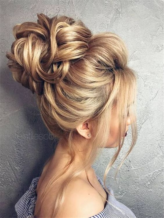 Messy buns for long hair, Cute ideas of messy updos for long hair