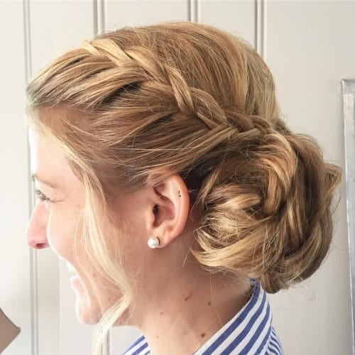 24 Best Updos for Medium Hair in 2019
