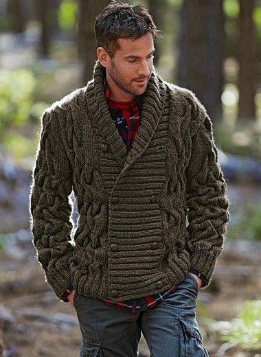Men's knit cardigan | Utilitarian Nihilon | Pinterest | Moda