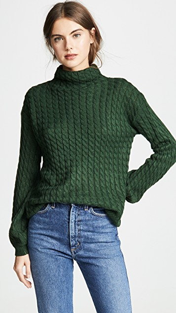 Line & Dot Juniper Cable Knit Sweater | SHOPBOP