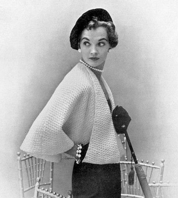 INSTANT PDF Vintage Knitting Pattern Unique Ladies Cape Jacket | Etsy