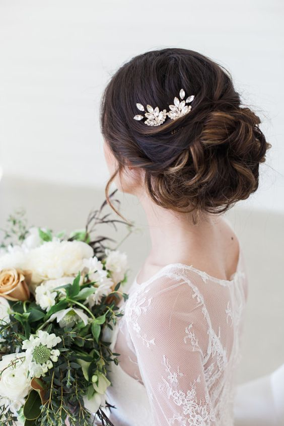 Top off Your Bridal Look With One of These Stunning Crystal Hair