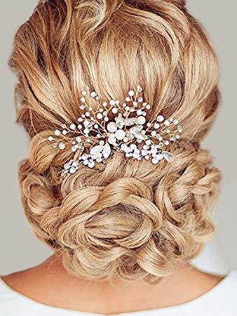 Amazon.com : Unicra Wedding Hair Combs Hair Accessories with Bead