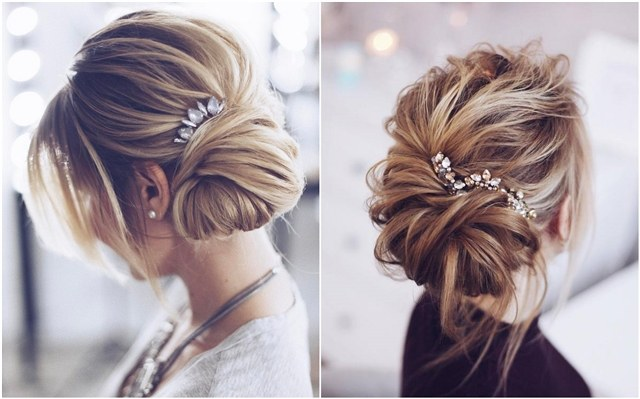 30 Chic Wedding Hair Updos for Elegant Brides | Deer Pearl Flowers