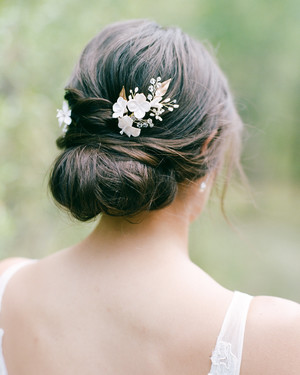 55 Simple Wedding Hairstyles That Prove Less Is More   Martha