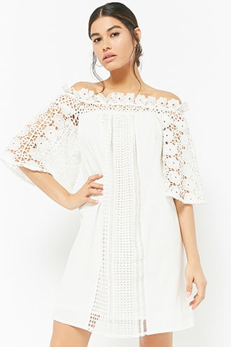 WHITE LACE CROCHET DRESS | Forever 21