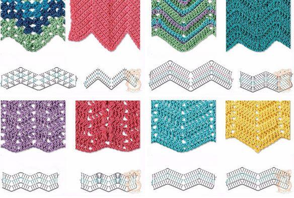 Best 8 Herringbone, Zig Zag Crochet Stitches for Free | Crochet
