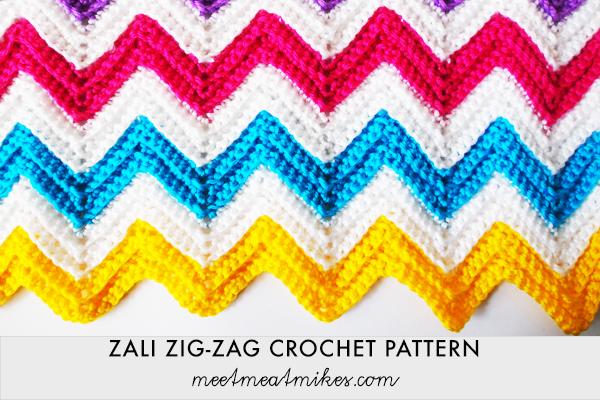 Tutorial - How To Crochet A Zali Zig-Zag Chevron Blanket
