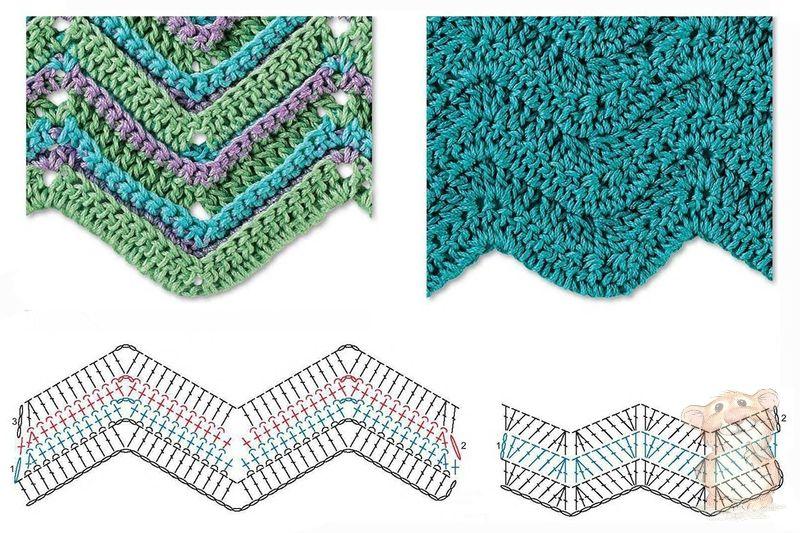 Best 8 Herringbone, Zig Zag Crochet Stitches for Free ⋆ Crochet Kingdom