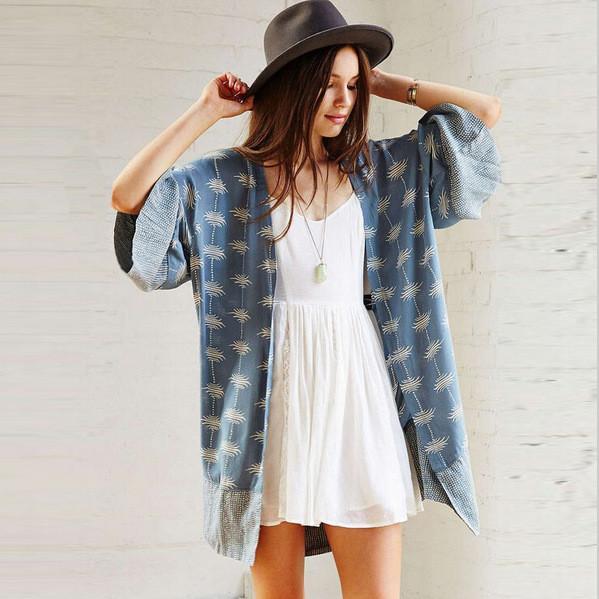 ... bohemian floral kimono cardigan - boho chic cardigan - hippie style  kimono - SPKWAQC