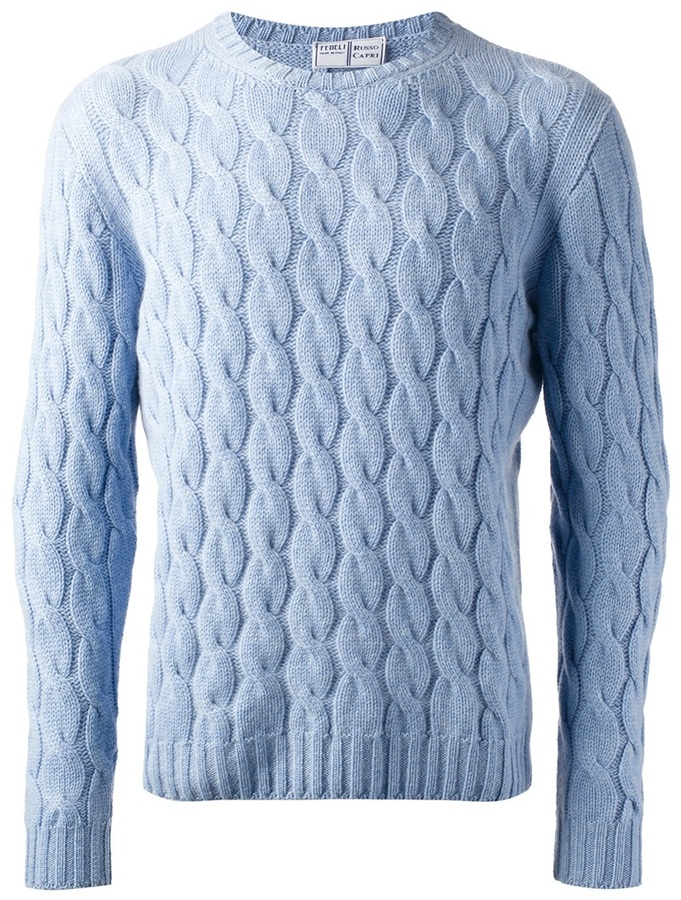 ... fedeli cable knit jumper LFFPMEL