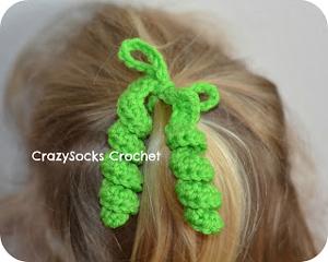 ... hair spirals - crochet hair accessories, free pattern! OBNRHXL