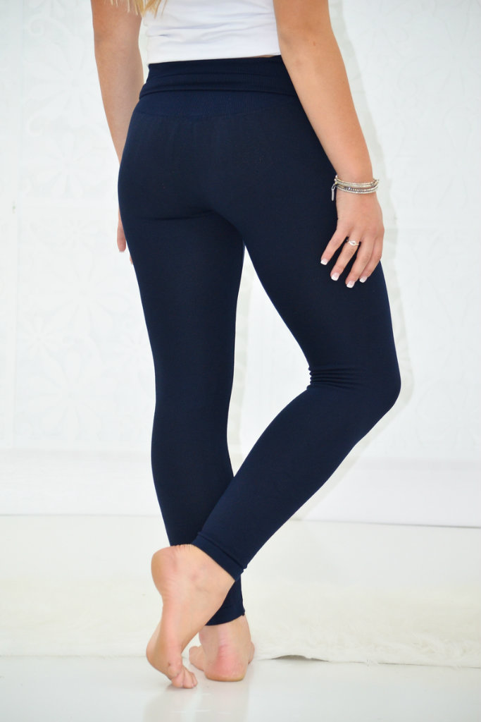... high waist tummy control fleece leggings ... WELTNCW