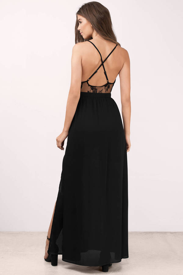 ... opposites attract black lace maxi dress ALGJGVL
