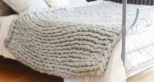 ... wool-over-our-eyes arm-knitted blanket ASHWPCT