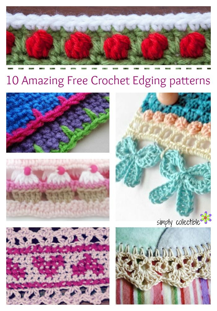 10 amazing free crochet edging patterns you will love | compiled by  simplycollectiblecrochet.com QCRLOSB