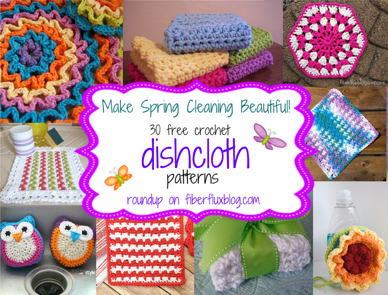 30 free crochet dishcloth patterns! CHTTAEK