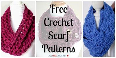 34 free crochet scarf patterns FVMJQKH