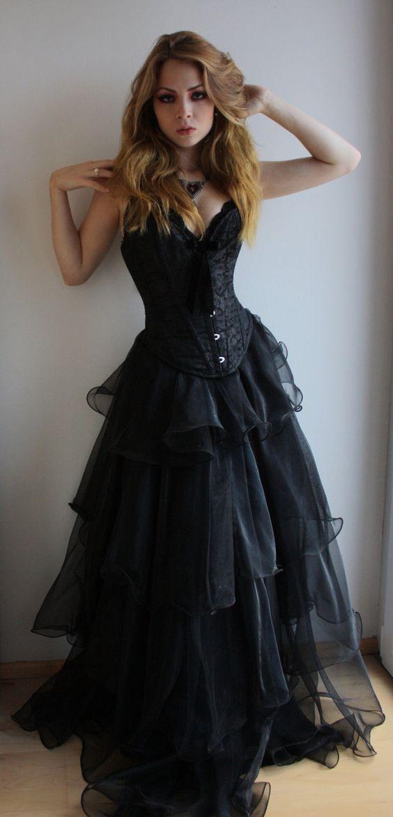 50 beautiful black wedding dresses you will love VPWDYAQ