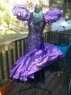 80s prom dress vintage 80s prom party dress purple wild child liquid metallic s YXQOTWN