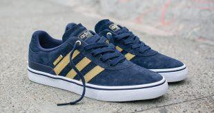 Adidas Busenitz adidas skateboarding dresses the busenitz vulc in blue and gold for 10-year  anniversary PQCJUHE