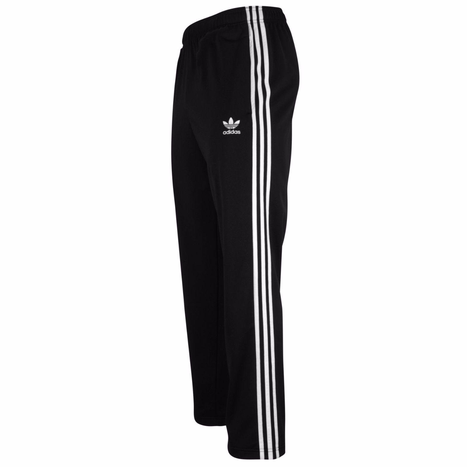 adidas joggers large adidas originals menu0027s superstar track pants f80896 black/white  joggers ZNGXCJV