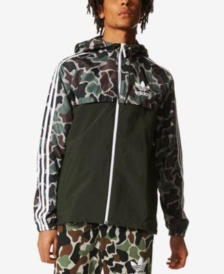 adidas originals jacket adidas originals menu0027s camo windbreaker TQUGPWS