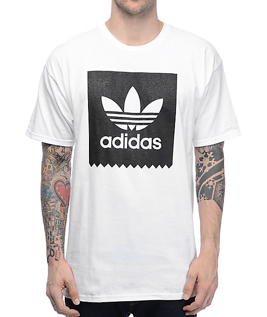 Adidas Shirt adidas blackbird white t-shirt EBQPCCU