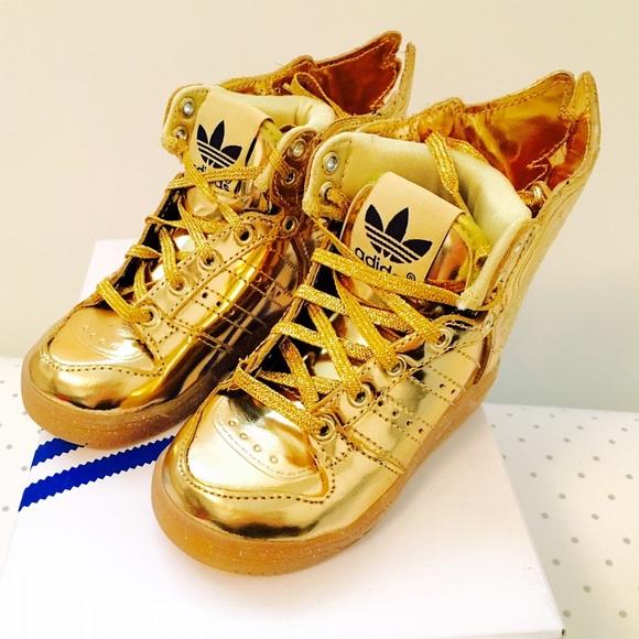 adidas shoes - jeremy scott wings 2.0 gold sneakers IMQTZAU