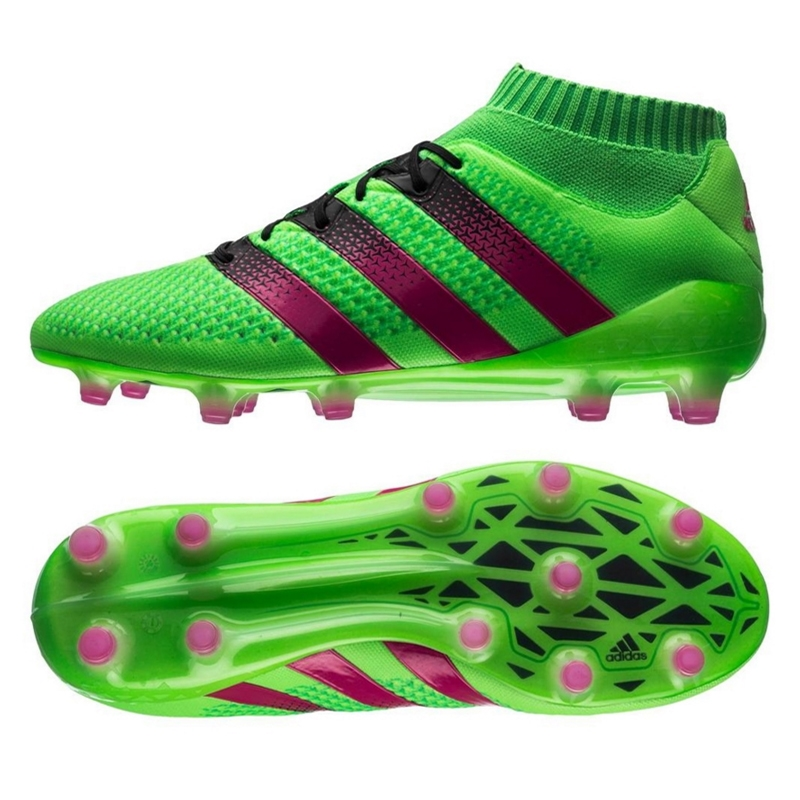 adidas soccer boots adidas ace 16.1 primeknit fg soccer cleats (solar green/shock pink/black) GAANZKP