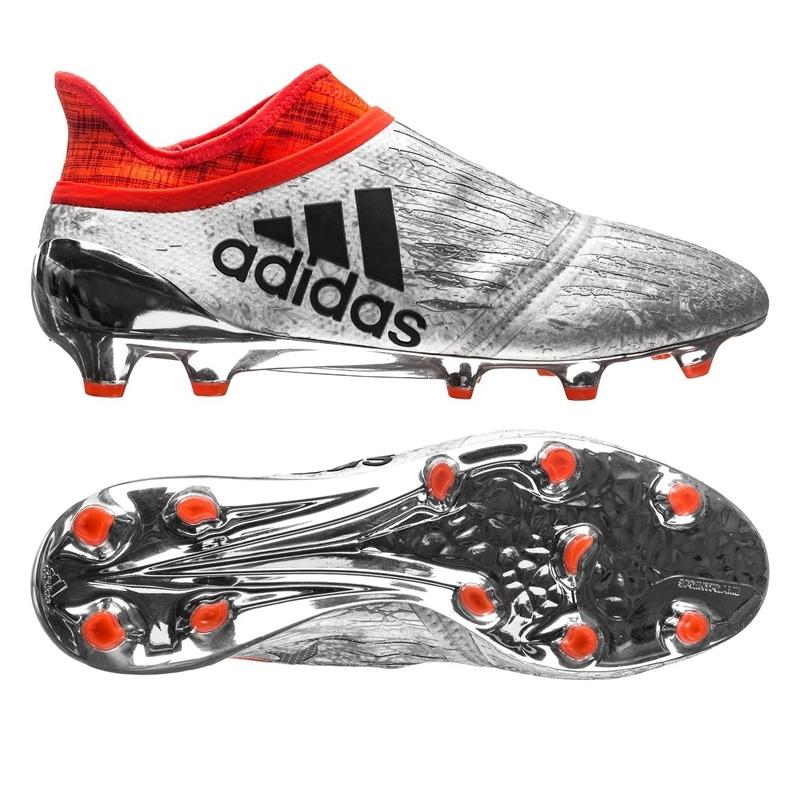 adidas soccer boots adidas x 16+ purechaos fg soccer cleats (silver metallic/black/solar red) IGWMRHJ