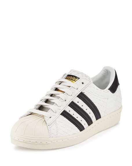 adidas superstar 80s adidassuperstar u002780s classic snake-cut sneaker, white/black RMESJES