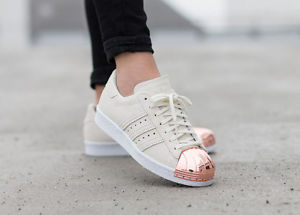 adidas superstar 80s image is loading adidas-superstar-80s-metal-toe-rose-gold-metallic- FTACWTM