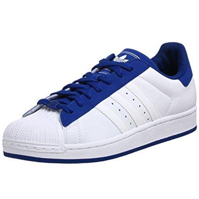 adidas superstar ii adidas originals menu0027s superstar ii shoe,white/white/royal,11. 5 DYCWZST