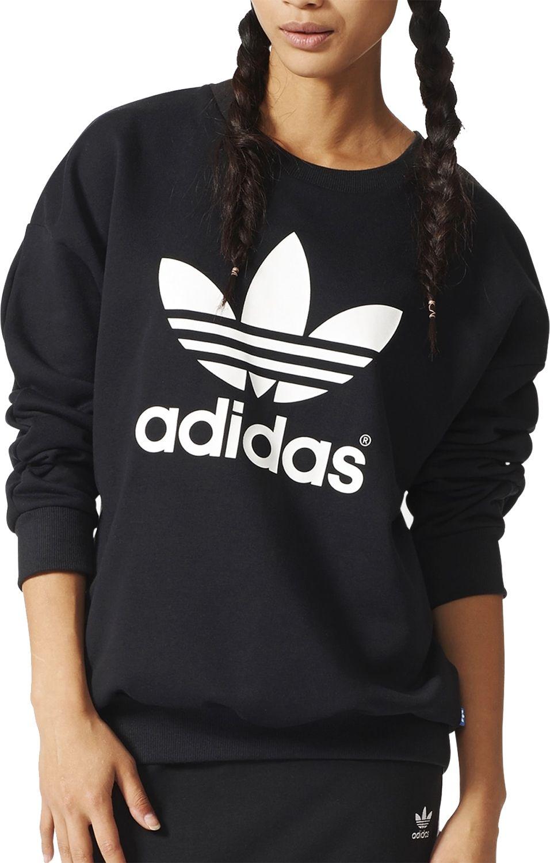 adidas sweatshirt adidas originals womenu0027s trefoil logo sweatshirt AYGOTLG