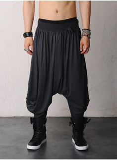 aladdin pants mens gigantic drop crotch skirt harem viscose silky pants at fabrixquare TWBZHZK