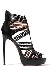 alaia shoes alaïa laser-cut leather platform sandals ZKEQTGQ