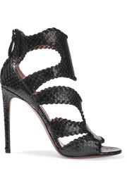 alaia shoes alaïa whipstitched python sandals DEPMAME