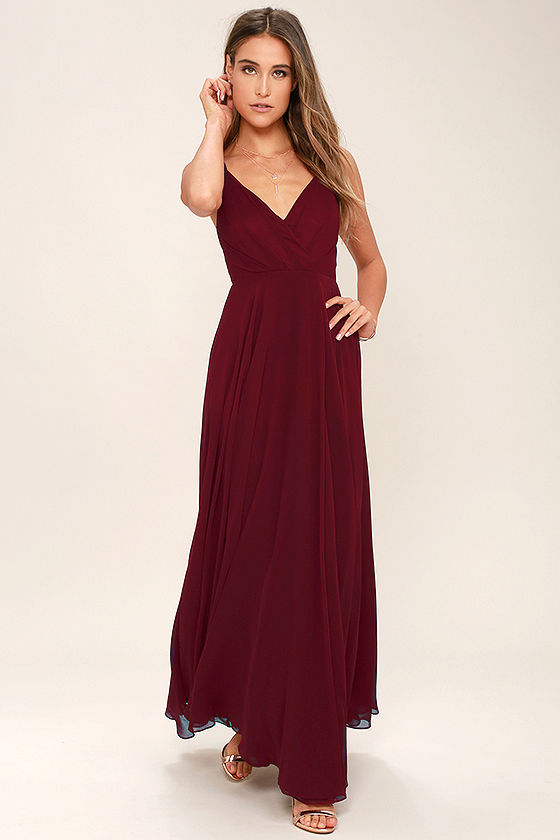 all about love wine red maxi dress 1 NSWOFAV