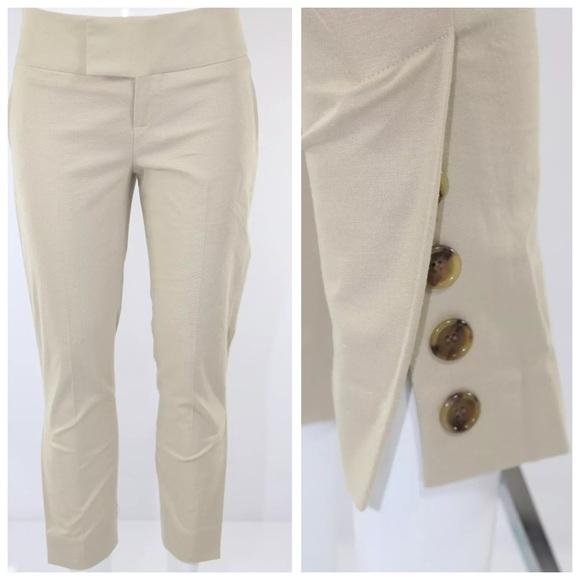 alvin valley pants - alvin valley beige crop cigarette pants 31 RFINTTZ