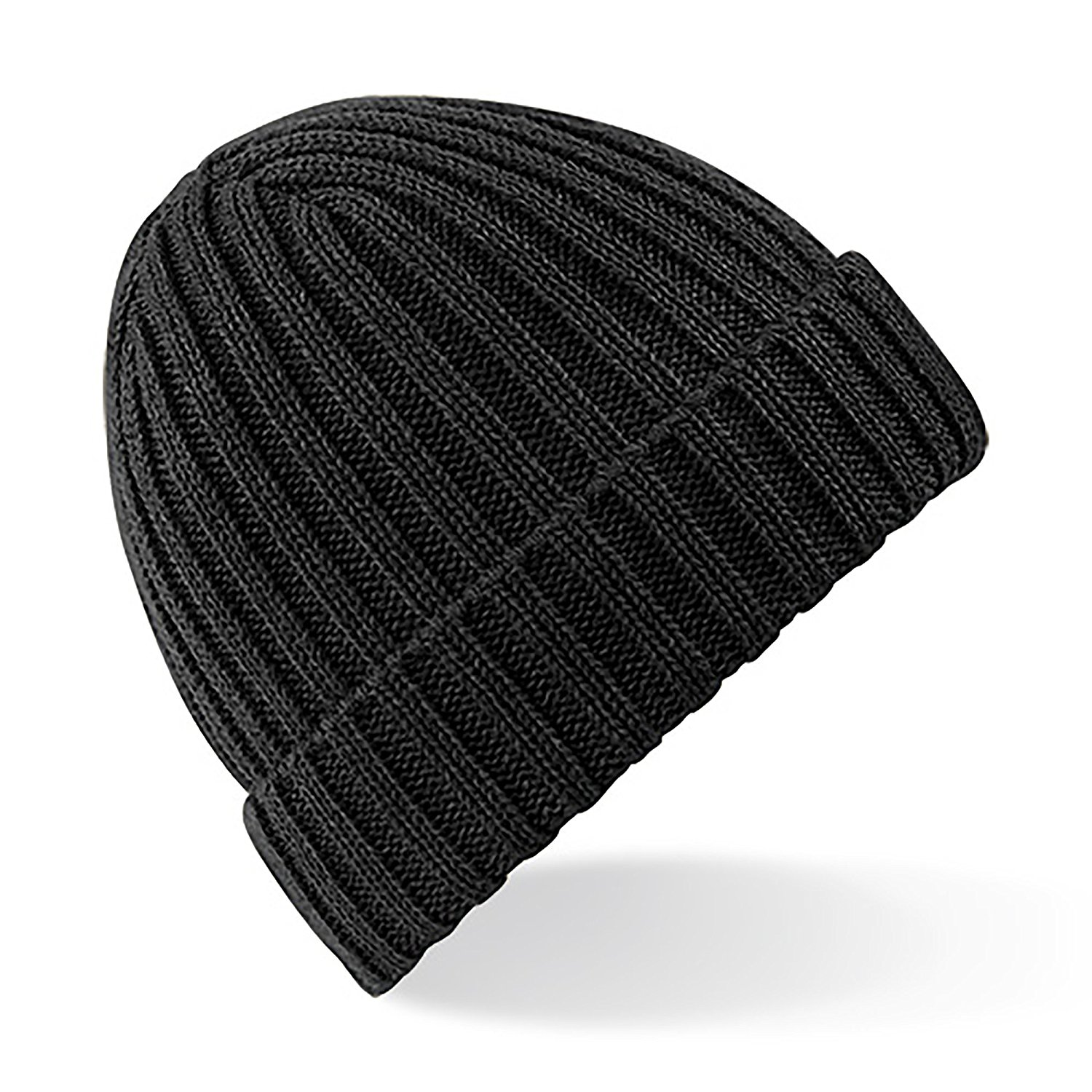 amazon.com: beechfield unisex winter chunky ribbed beanie hat (one size)  (black): clothing QRAAJDI