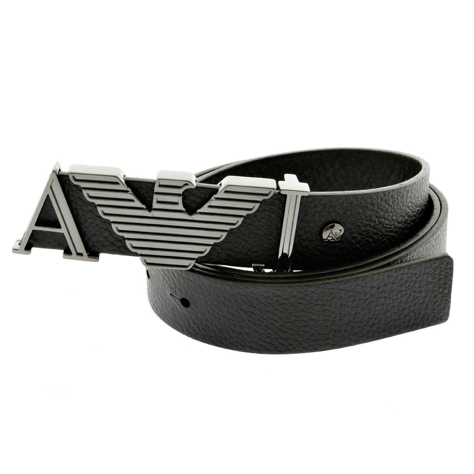 armani belt armani jeans black leather casual belt q6102 59 ajm2410 CGUOUNG
