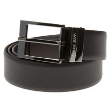 armani belt new mens armani jeans black reversible leather belt belts FBHXQZH