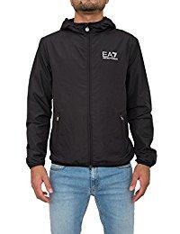 armani jackets armani ea7 lightweight hooded jacket black 3ypb30 GGGYPDQ
