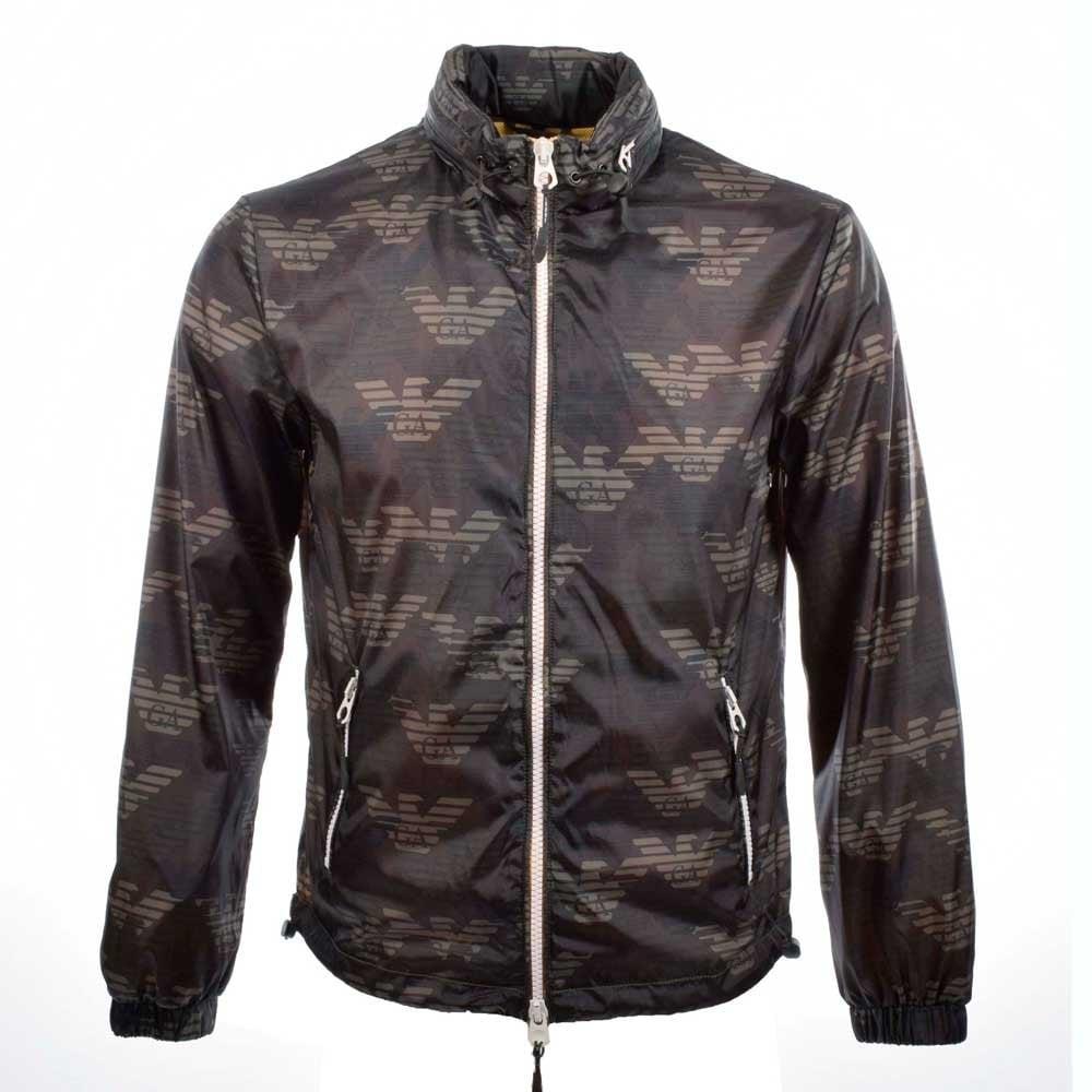 armani jackets armani jeans green camo print nylon jacket AAWPJXJ