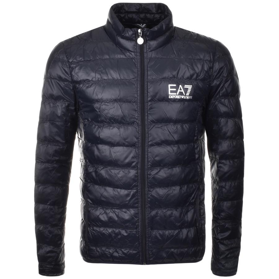 armani jackets ea7 emporio armani quilted jacket blue WRFYNVI
