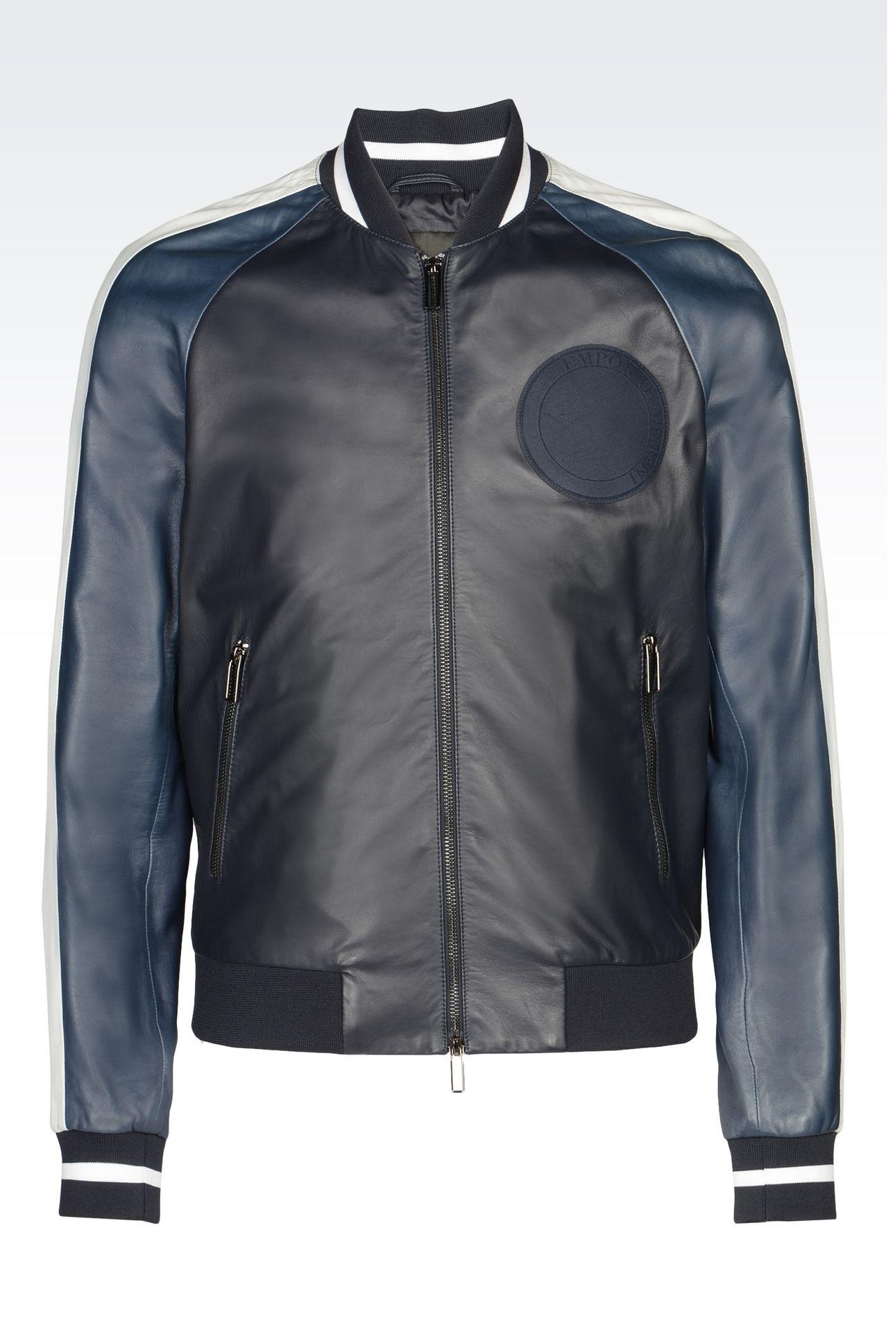armani jackets leatherwear: light leather jackets men by armani - 0 UWKLTZX