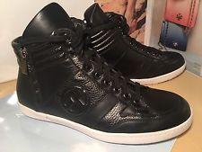 armani shoes $795 giorgio armani high top sneaker black leather men sz 8 new BTUPKUG