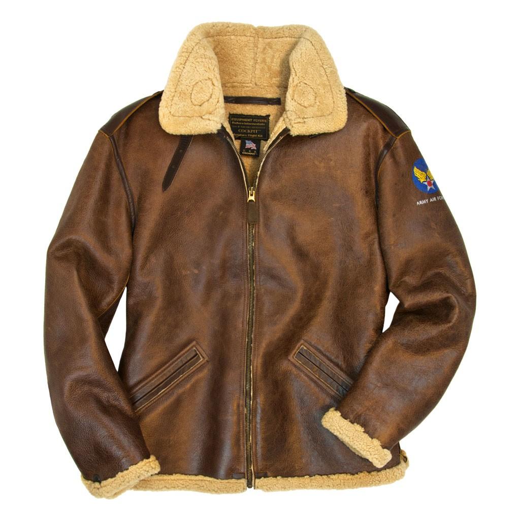 b-6 shearling bomber jacket ... YUUNBIZ