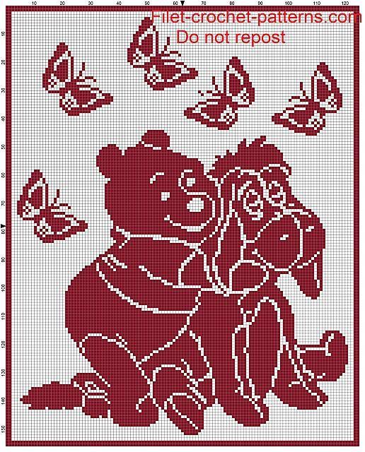 baby blanket winnie the pooh filet crochet pattern ARTECQH